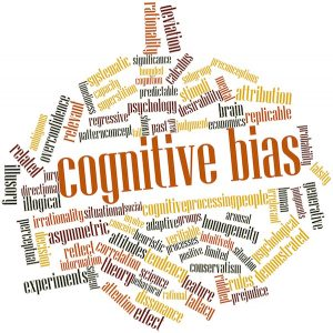 Abstract word cloud for Cognitive bias with related tags and terms