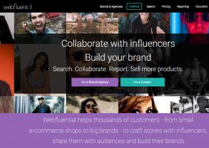 Webfluential - Influencer marketing