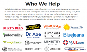 who we help - social proof