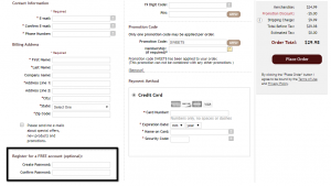 integrated account creation